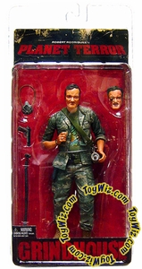 NECA Grindhouse Planet Terror Action Figure Quentin Tarantino as Army Soldier