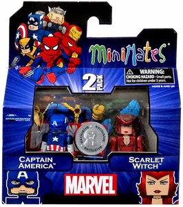 Marvel MiniMates Exclusive Mini Figure 2-Pack Captain America & Scarlet Witch