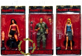 NECA Grindhouse Planet Terror Set of 3 Action Figures [Cherry, Dakota & Army Soldier]