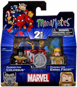 Marvel MiniMates Exclusive Mini Figure 2-Pack Phoenix Five Colossus & Phoenix Five Emma Frost