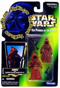 Star Wars Power of the Force Color Photo Card Action Figure Jawas [Glowing Eyes & Blaster Pistols]