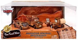 Disney / Pixar CARS Time Travel Mater Exclusive Die Cast Car 3-Pack Radiator Springs Beginnings [McQueen, Mater & Stanley]