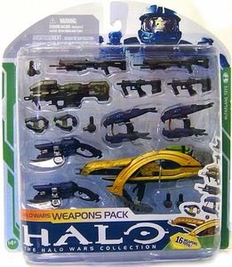 Halo 3 McFarlane Toys Series 5 [2009 Wave 2] Halo Wars Weapons Pack {16 Covenant & UNSC Weapons}