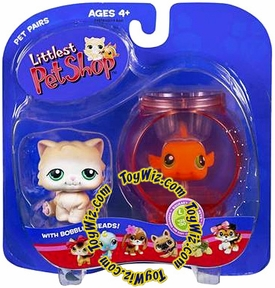 Littlest Pet Shop Pet Pairs Figures Cat & Clown Fish