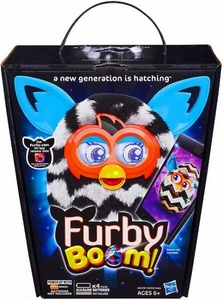 Furby Boom Sweet Figure Black & White Zigzag Stripes