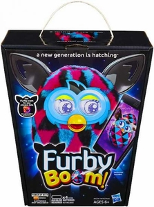 Furby Boom Sunny Figure Black & Pink Triangles