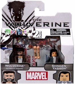 Marvel Minimates The Wolverine Mini Figure 2-Pack Wolverine (Street Fight) & Shingen Yashida