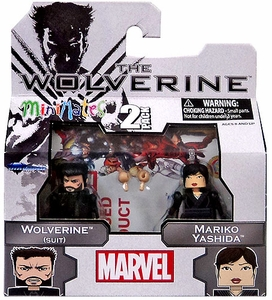 Marvel Minimates The Wolverine Mini Figure 2-Pack Wolverine (Suit) & Mariko Yashida