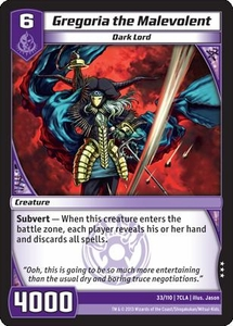 Kaiudo Clash of the Duel Masters Single Card Rare #33 Gregoria the Malevolent