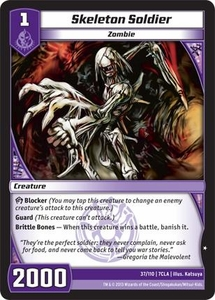 Kaiudo Clash of the Duel Masters Single Card Common #37 Skeleton Soldier