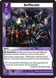 Kaiudo Clash of the Duel Masters Single Card Rare #40 Suffocate