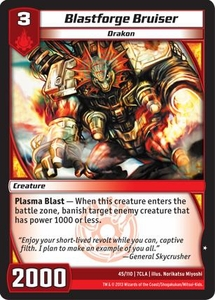 Kaiudo Clash of the Duel Masters Single Card Common #45 Blastforge Bruiser