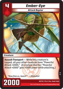Kaiudo Clash of the Duel Masters Single Card Uncommon #48 Ember-Eye