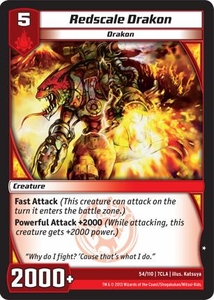 Kaiudo Clash of the Duel Masters Single Card Common #54 Redscale Drakon