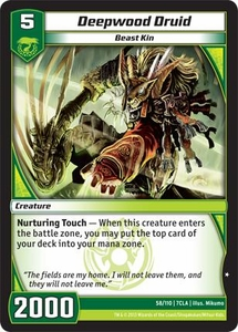 Kaiudo Clash of the Duel Masters Single Card Common #58 Deepwood Druid