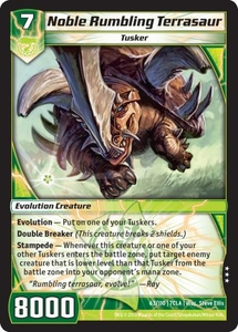 Kaiudo Clash of the Duel Masters Single Card Rare #63 Noble Rumbling Terrasaur