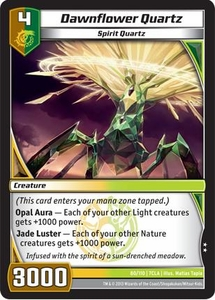 Kaiudo Clash of the Duel Masters Single Card Uncommon #80 Dawnflower Quartz
