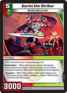 Kaiudo Clash of the Duel Masters Single Card Rare #105 Gorim the Striker