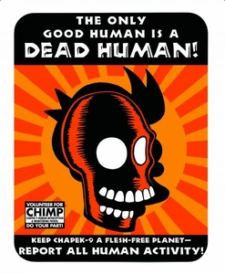Futurama Tin Sign The Only Good Human Is A Dead Human