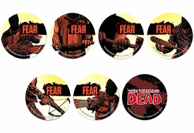 Walking Dead Set of 7 Promo Buttons