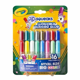 Crayola Pip-Squeaks Washable Glitter Glue [16 Unique & Bright Colors]