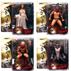 NECA Frank Miller's 300 Movie Series 1 Set of 4 Action Figures [King Leonidas, Queen Gorgo, Immortal & Ephialtes]