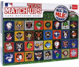 MLB Major League Baseball Team Match-Ups Card Matching Game