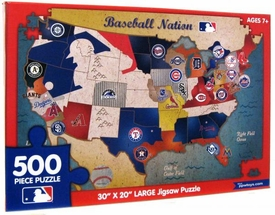 MLB Major League Baseball 500 Piece Puzzle Baseball Nation