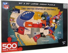 NFL National Football League 500 Piece Puzzle Football Nation