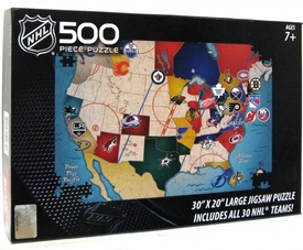 NHL National Hockey League 500 Piece Puzzle Hockey Nation
