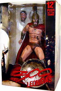 NECA Frank Miller's 300 Movie 12 Inch Deluxe Talking Action Figure King Leonidas