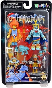 Thundercats Minimates 2013 SDCC San Diego Comic Con Exclusive Mini Figure 4-Pack Prince Lion-O, Jaga, Grune the Destroyer & Mumm-Ra the Ever-Living