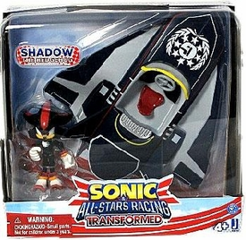 Sonic Sega All-Stars Racing Vehicle & Figure Shadow with Plane