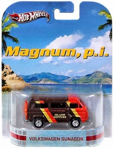 Hot Wheels Retro Magnum, P. I. 1:55 Die Cast Vehicle Volkswagen Sunagon