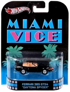Hot Wheels Retro Miami Vice 1:55 Die Cast Car Ferrari 365 GTS4