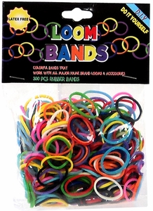Loom Bands 300 RAINBOW Rubber Bands with 'S' Clips