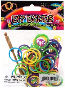 D.I.Y. Do it Yourself Bracelet Bands 100 Rainbow Rubber Bands with Hook Tool & Buckles