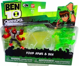 Ben 10 Omniverse Mini PVC 2 1/2 Inch Figure 2-Pack Four Arms & Ben