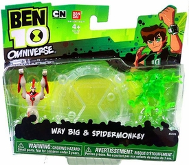 Ben 10 Omniverse Mini PVC 2 1/2 Inch Figure 2-Pack Way Big & Spidermonkey