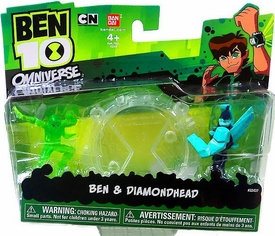 Ben 10 Omniverse Mini PVC 2 1/2 Inch Figure 2-Pack Ben & Diamondhead