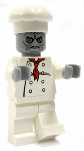 LEGO Zombie LOOSE Custom Mini Figure Chef Zombie [Version 2]