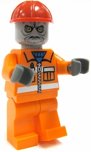LEGO Zombie LOOSE Custom Mini Figure Construction Worker Zombie [Version 1]