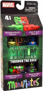 Marvel Minimates Mini Figure 4-Pack Hulk Through The Ages [Barbarian Hulk, Joe Fixit Hulk, Composite Hulk & Maestro Hulk]