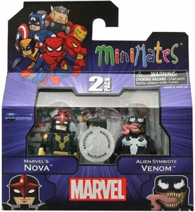 Marvel MiniMates Exclusive Mini Figure 2-Pack Nova & Venom
