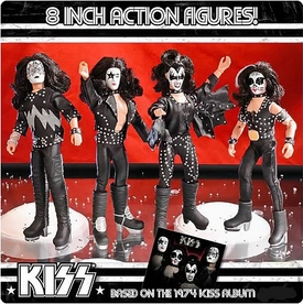 KISS Retro 8 Inch Poseable Action Figure Series 2 Set of 4