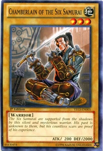 YuGiOh 2013 Super Starter: V for Victory Single Card Common YS13-EN005 Chamberlain of the Six Samurai