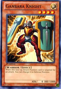 YuGiOh 2013 Super Starter: V for Victory Single Card Common YS13-EN013 Ganbara Knight