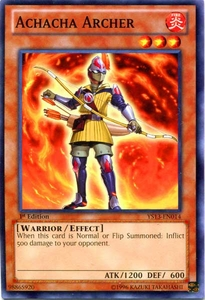 YuGiOh 2013 Super Starter: V for Victory Single Card Common YS13-EN014 Achacha Archer