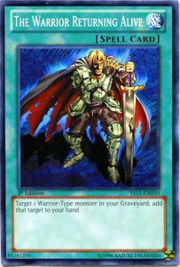 YuGiOh 2013 Super Starter: V for Victory Single Card Common YS13-EN030 The Warrior Returning Alive