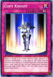 YuGiOh 2013 Super Starter: V for Victory Single Card Common YS13-EN033  Copy Knight
